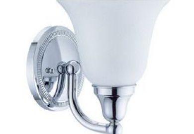 Allen Roth Bostonian Chrome Bathroom Vanity Light