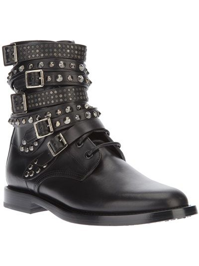 SAINT LAURENT Studded Biker Boot