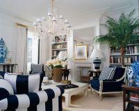 Navy and White Living Room   Dream Home   Pinterest