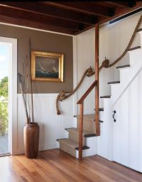Rope stair rail | For the Home | Pinterest