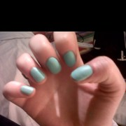 matte turquoise nails spring