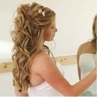 wedding hairstyles for long hair down | pretty hair styles ...
