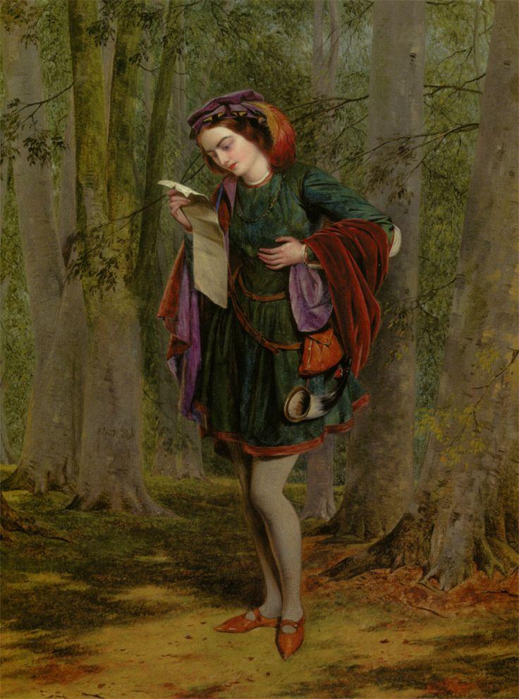 Henry Nelson O'Neil: Rosalind, As You Like It