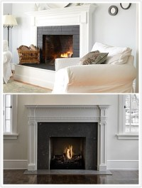 Gray tile fireplace | Livingroom | Pinterest