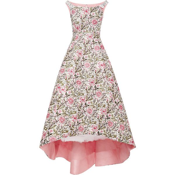 Oscar de la Renta Embellished Floral Brocade Gown found on Polyvore