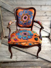 bohemian styled chair | Stunning Colors to Explore | Pinterest