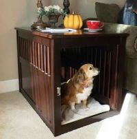 Dog crate table | Pets | Pinterest