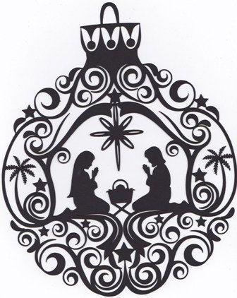 Stunning Nativity Christmas ornament