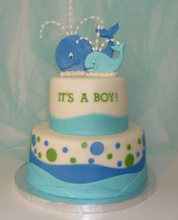 Baby Shower Whale Theme Cake | Baby shower ideas | Pinterest