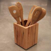 Wooden Kitchen Utensil Holder   Woodworking   Pinterest