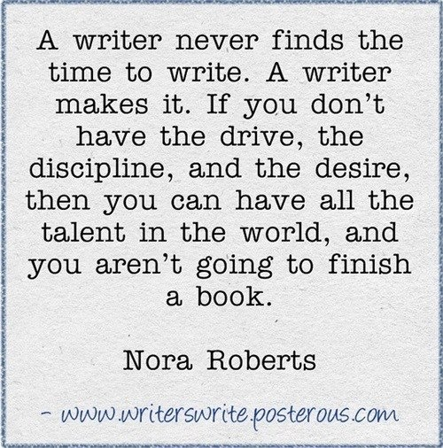 From one of the most prolific writers ever.....Even though I don't care much for her books (They just aren't my taste) This is a very true statement