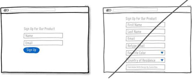 別讓使用者填太多表單