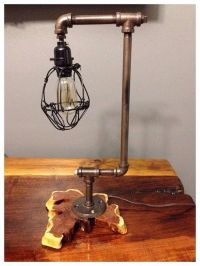 Industrial/Rustic Handcrafted Desk or Table Lamp