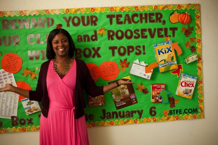 Box Tops for Education Bulletin Board