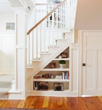 built-in shelves under the staircase | Things I want to ...