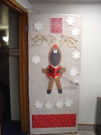 Christmas Door Decoration at Office 2012 | Door deco ideas ...