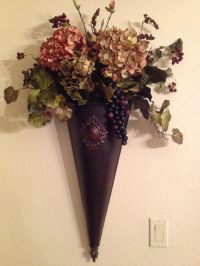 Flower sconce for pews | Here comes the bride | Pinterest