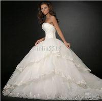 Wholesale 2013 Luxury Organza Big Skirt Bride Ball Gown