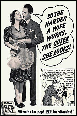 vitamins housewife  1950s. I just LOVE these old advertisements!