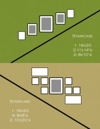 Staircase picture frame layout. | A House is a Home ...