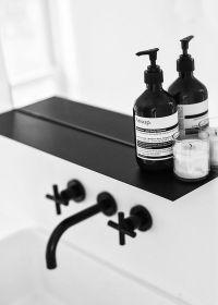 Scandinavian Love Song: black bathroom fixtures