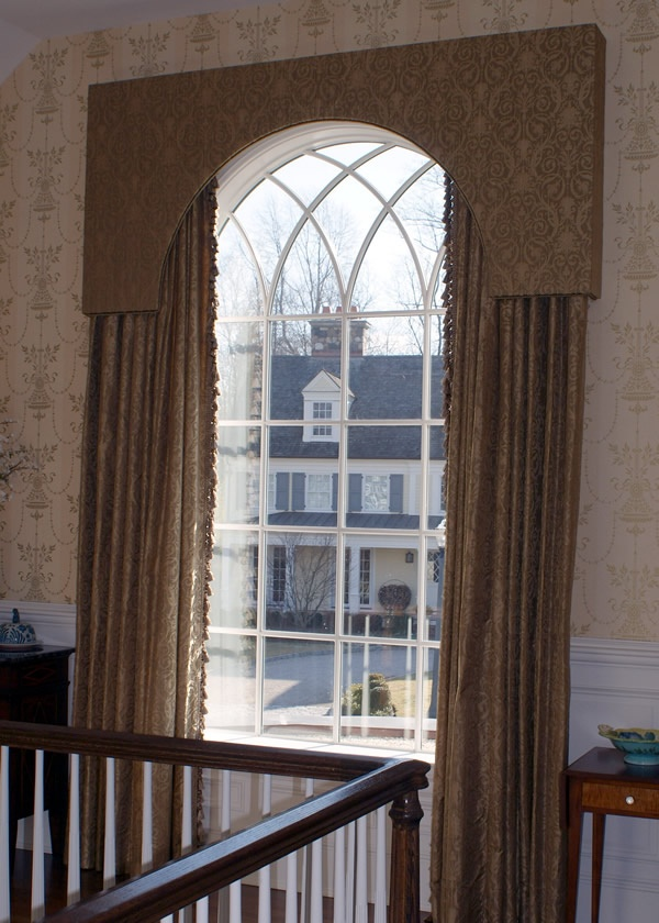Window treatment idea for arched window