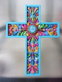 Decorative Wall Cross Shine. Cross Art Deco Vintage