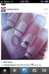Bow nail design | Nails | Pinterest