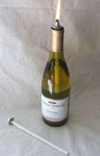 Wine bottle oil lamp, DIY kit, set of 2