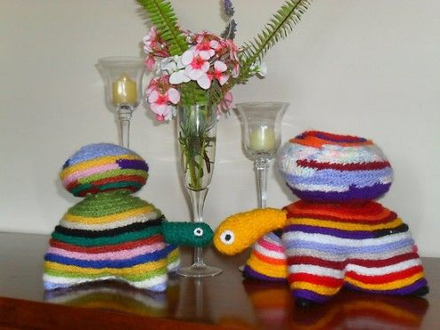 Knitting+Ideas | French knitted tutles by Peter Coombe