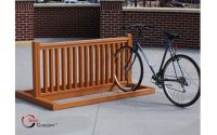 made by wood: Here Wooden bike rack plans