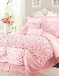 Pink Ruffled Comforter Set  L.O.V.E. | Jerika/girls ...