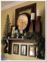 No fireplace or mantle = Improvise. | Dream home | Pinterest