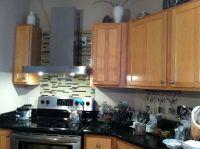 Tile backsplash just behind the stove | House | Pinterest