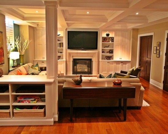 Basement Family Room Design - love it!