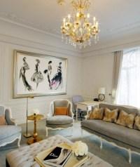 gray + gold + cream | .Living Room. | Pinterest