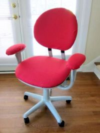 Red DIY Office Chair Covers Design | Office make over ...