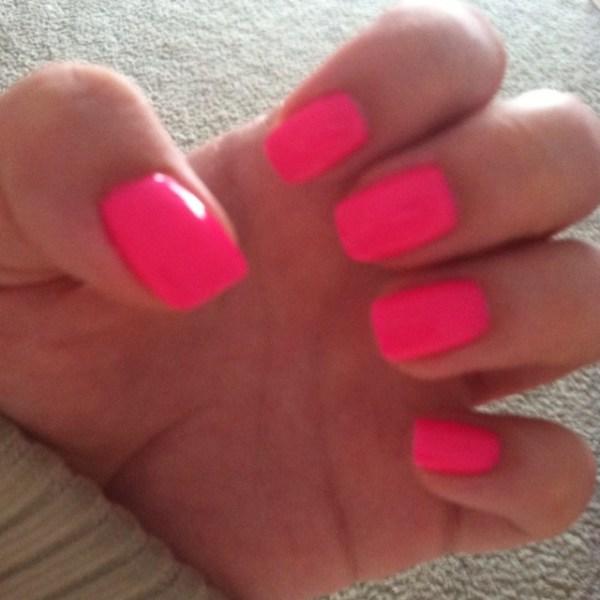 Hot pink shellac nails  Nail Art Pinterest