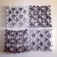 Toilet paper rolls made into wall art !! | DIY Lover ...