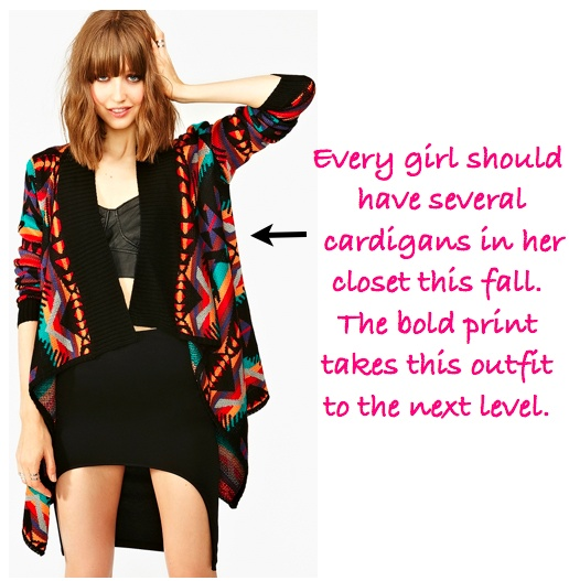 Every girl should have an amazing cardigan in her closet this fall. For more styling tips visit: www.BrandedGlamour.com