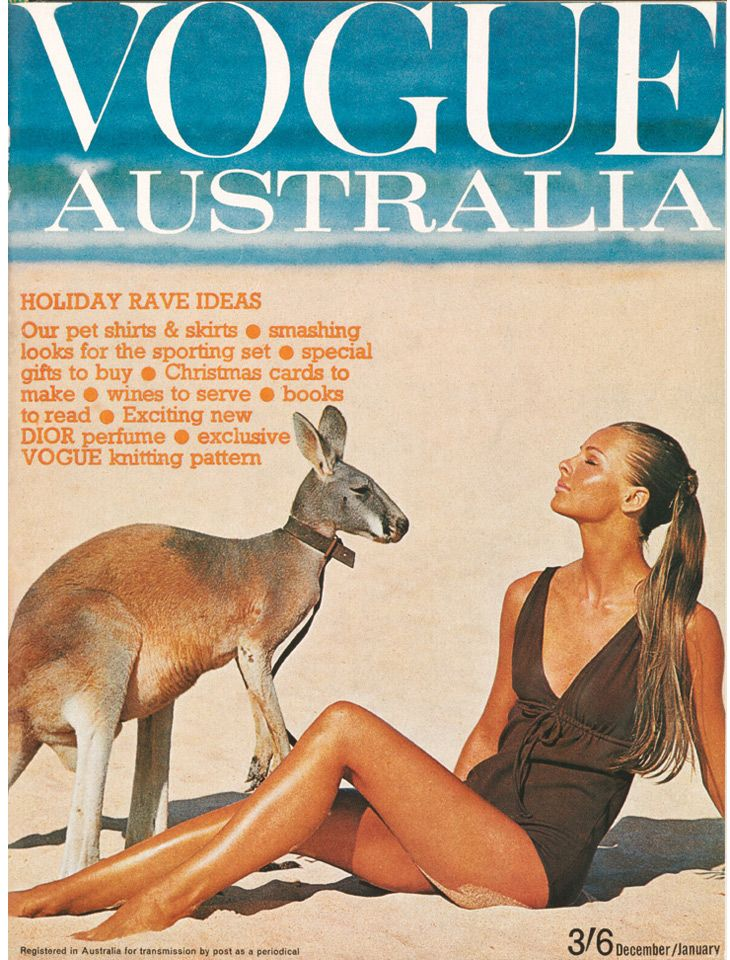 Happy Australia Day! Jan 26th! //  Vogue Australia December/January 1964-65.  Cover by Helmut Newton.
