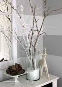White branches for the floor vases | Modern Wedding ...