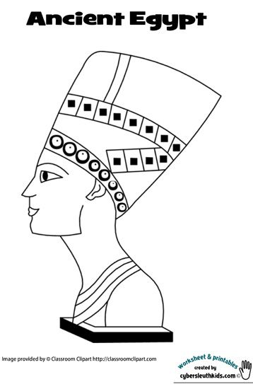 Egyptian Canopic Jars Coloring Page Coloring Pages