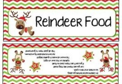 Free Reindeer Food Bag Toppers