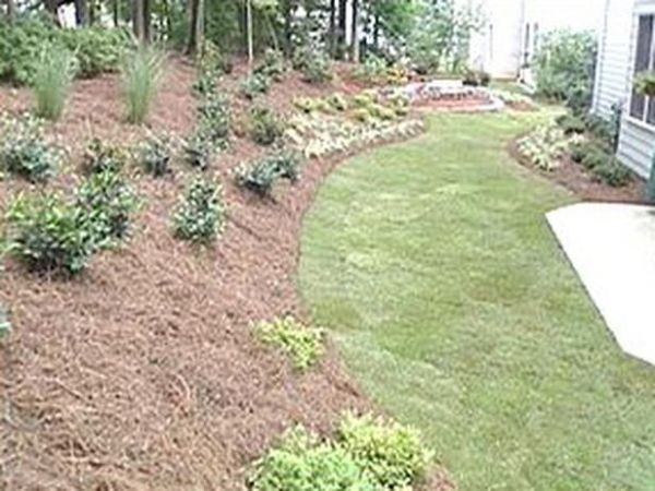 landscape sloped yard uneven