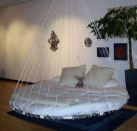 round swing floating bed | DIY Cool Bedroom Ideas | Pinterest