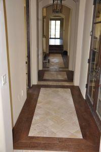 Tile / wood entryway   Wood Floors   Pinterest