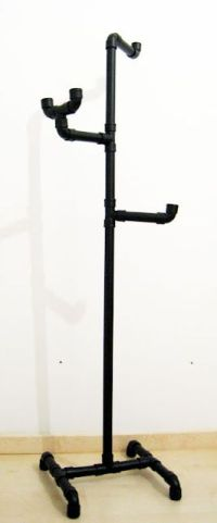 Coat rack made from pipe...