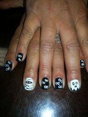 halloween nail art withgel polish