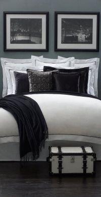 Ralph Lauren black and white bedroom